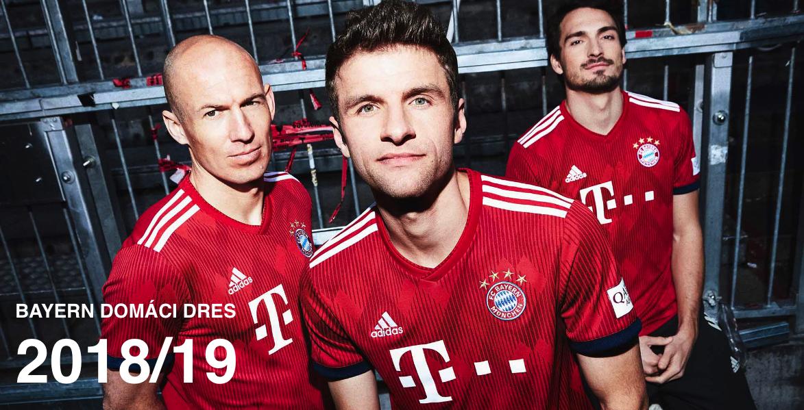 Nové dresy Bayern Mníchov 2018/19
